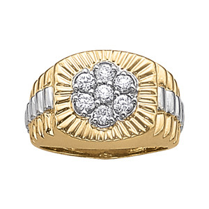 GENTS RING CLUSTER
