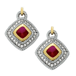 EARRINGS COLOR SQUARE & CUSHION