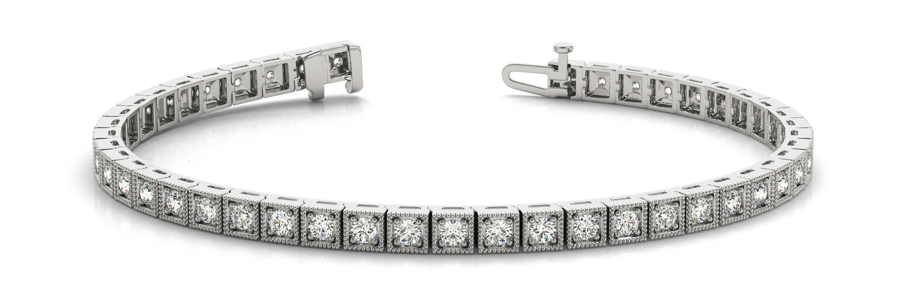 Bracelet In Line Prong Set