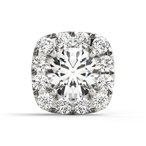 ROUND CENTER; CUSHION HALO