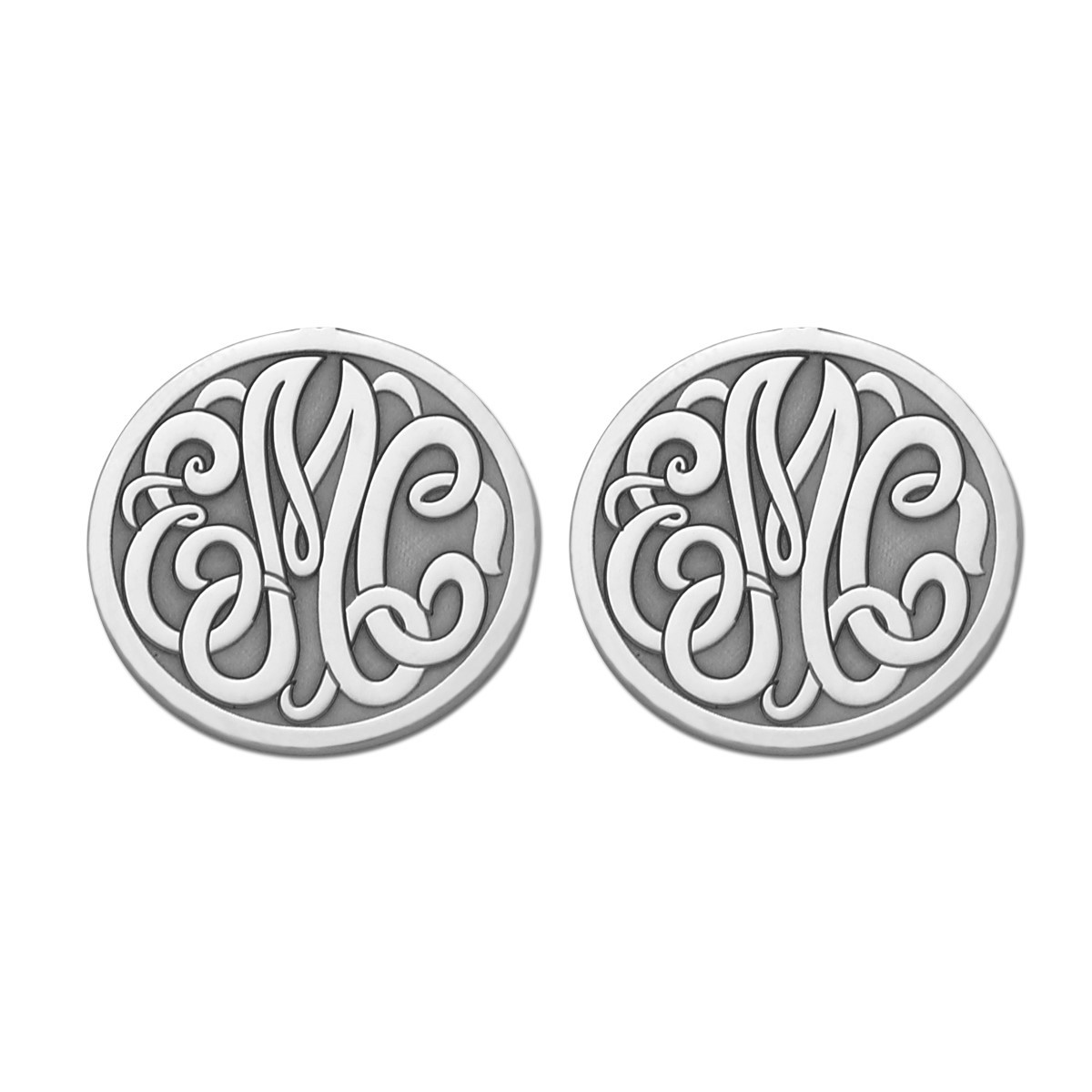 20MM MONOGRAM CLUTCH & POST EARRING