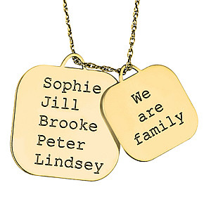 2 PC FAMILY  BLOCK PENDANT