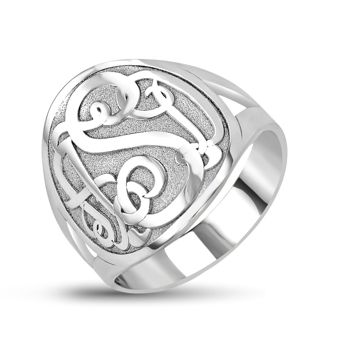 MONOGRAM RING W/ SOLID BACKING