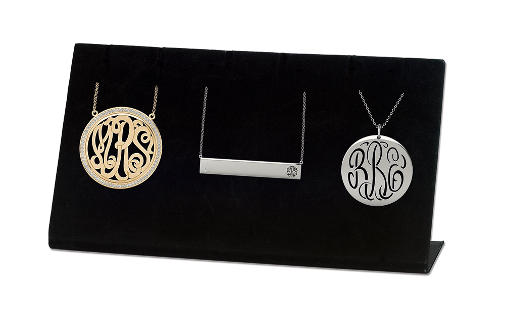 3 Pcs sample kit that displays the diamond bezel monogram that won the JCK designers Showcase award!