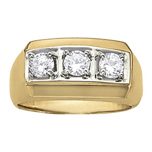 GENTS RING 3 STONE
