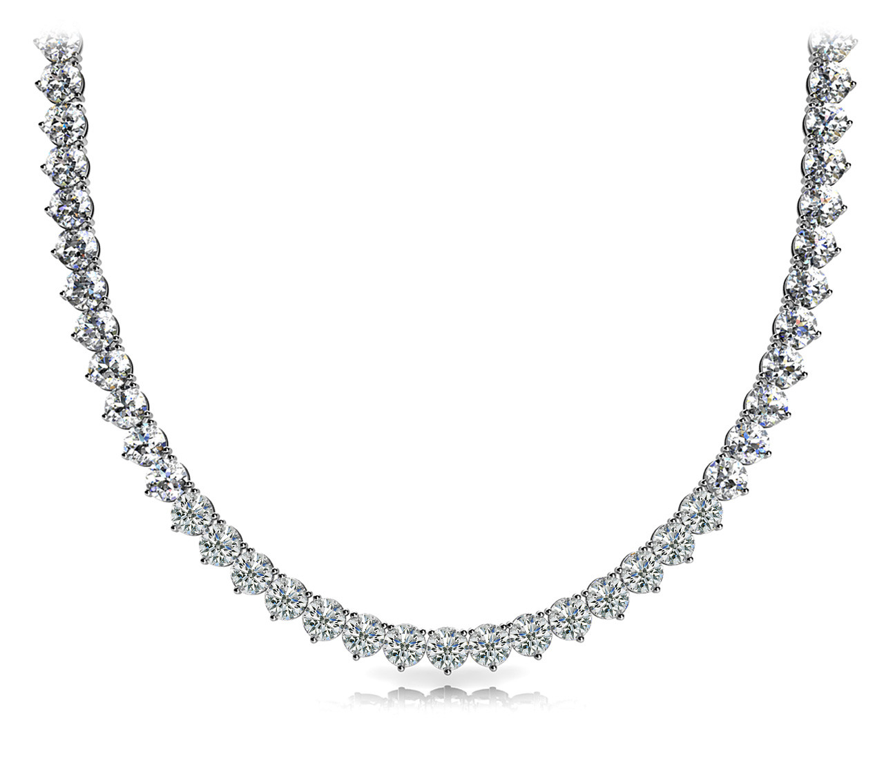 3 Prong Riviera Necklace not G