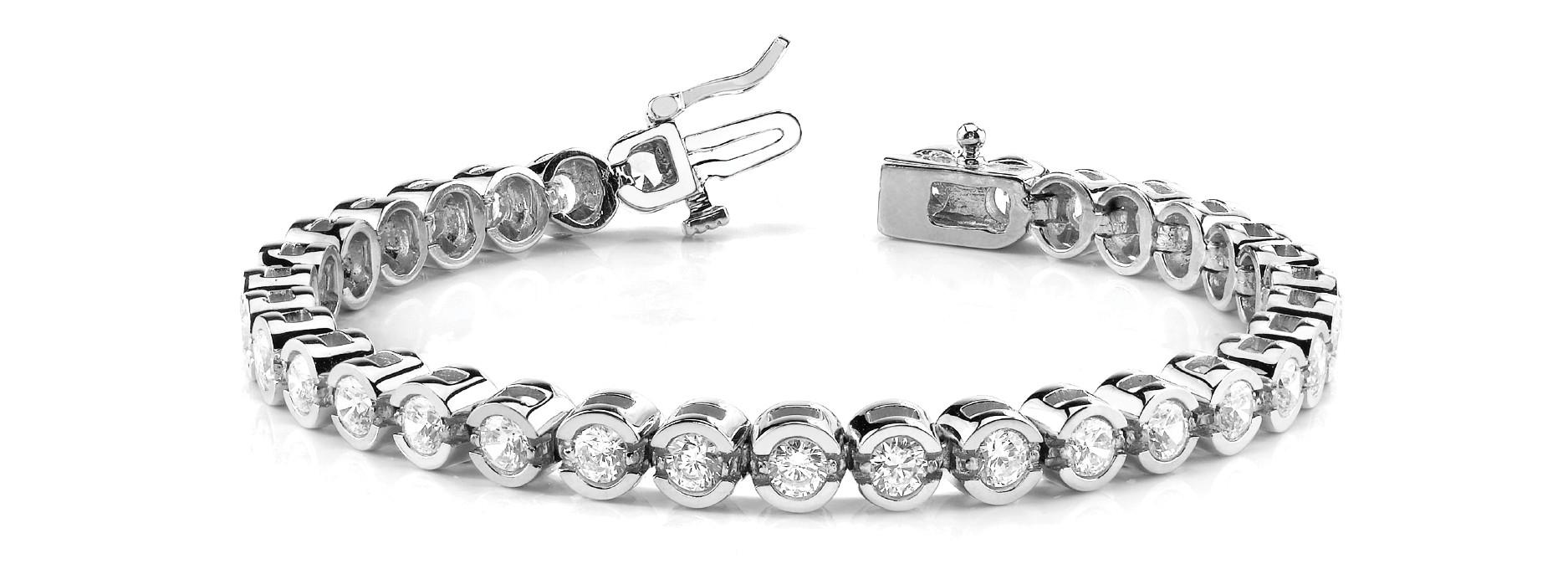 Bracelet In Line Bezel Set