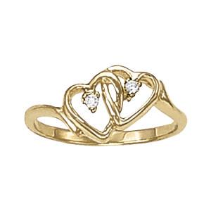DIAMOND FASHION HEART RINGS