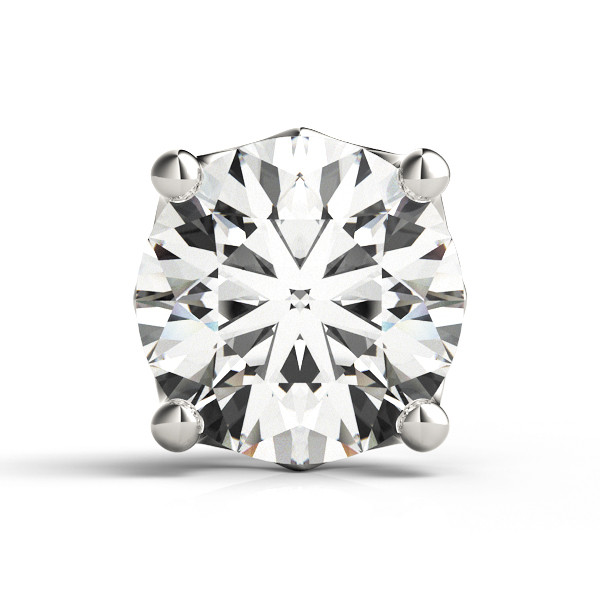 4 PRONG ROUND HEART ACCENT