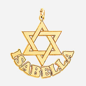 STAR OF DAVID W/ NAME IN BOTTO