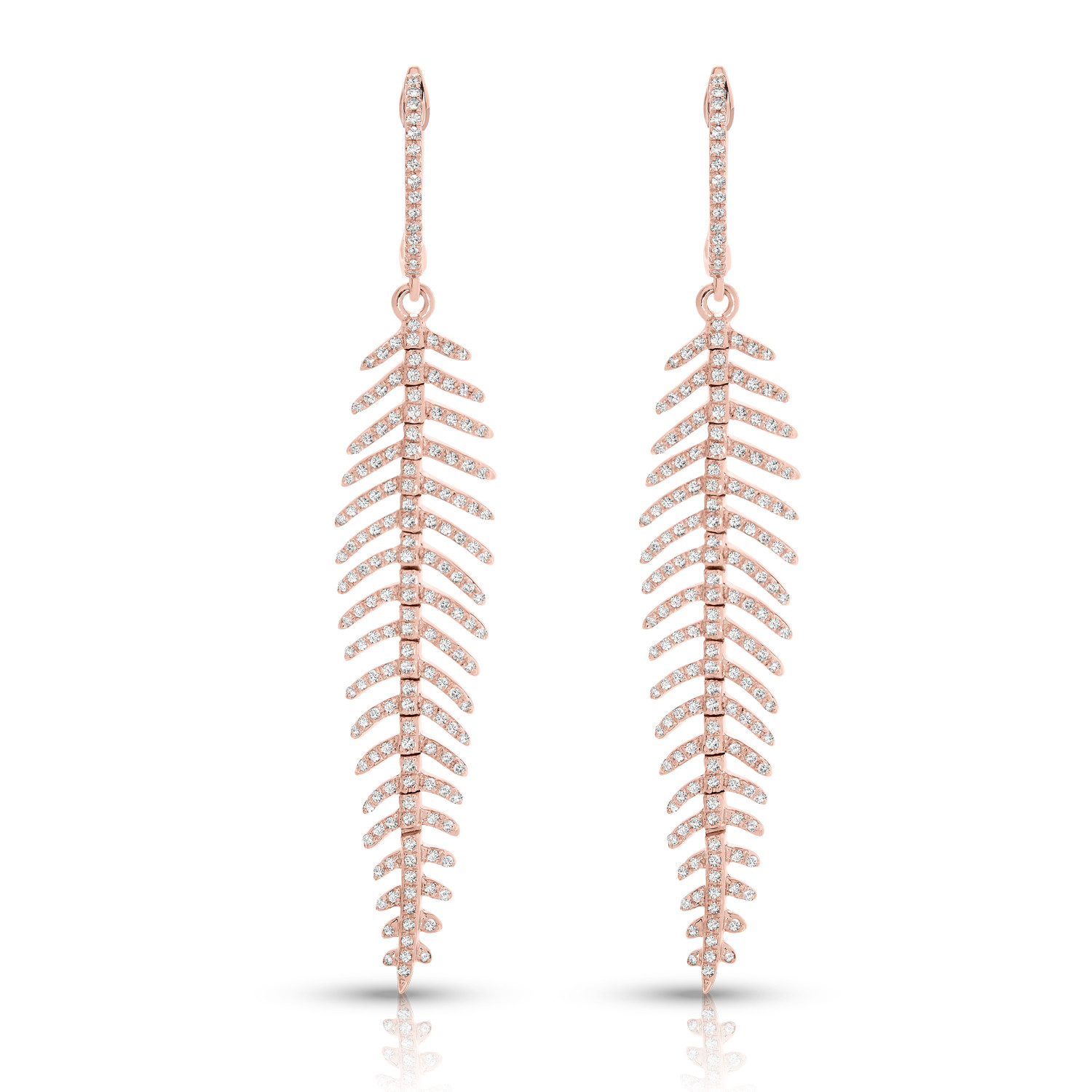 14KT ROSE DIA EARRINGS