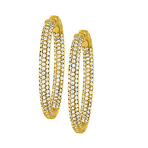 37MM OVAL PAVE INSIDE OUT