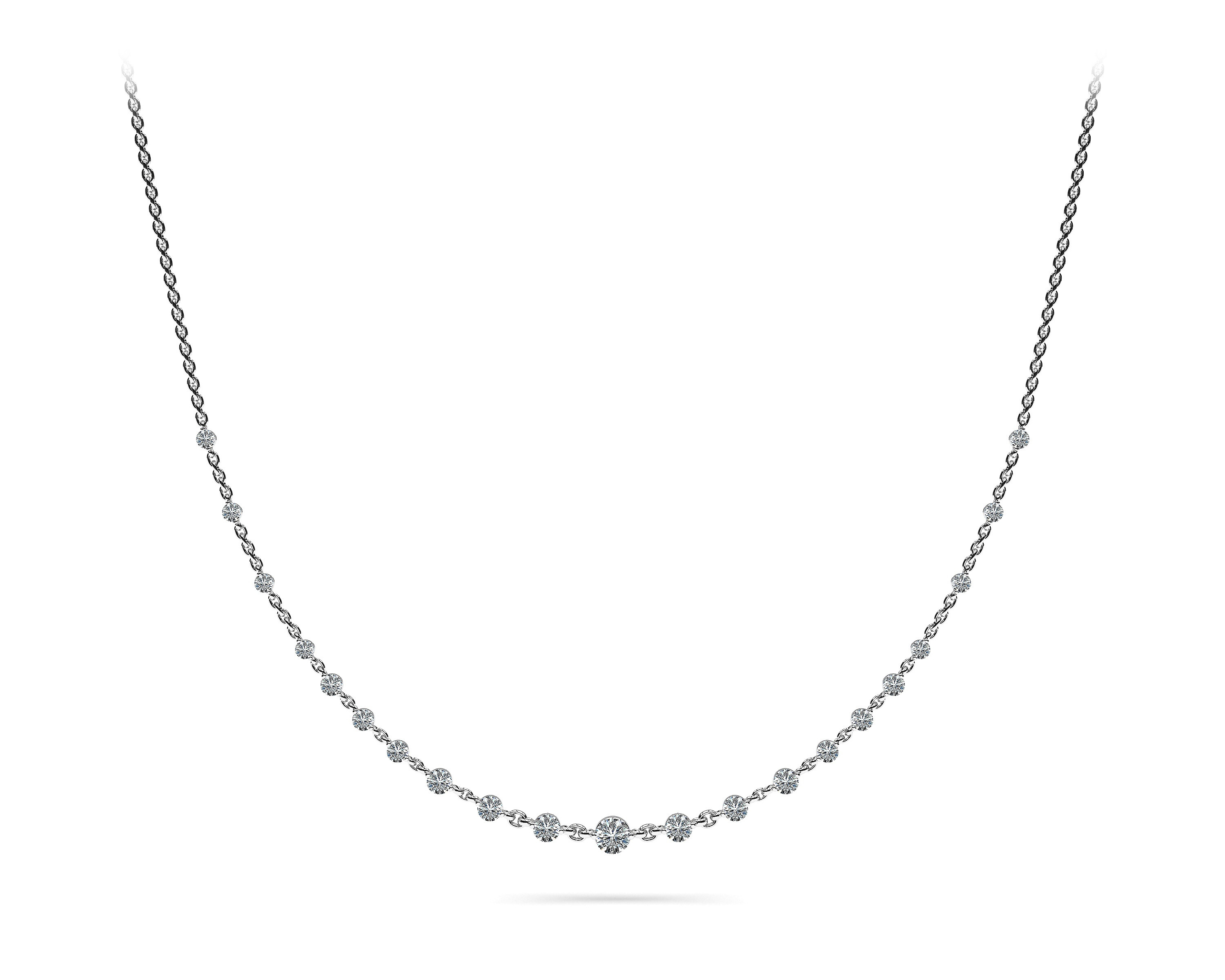 TWO PRONG CABLE LINK NECKLACE