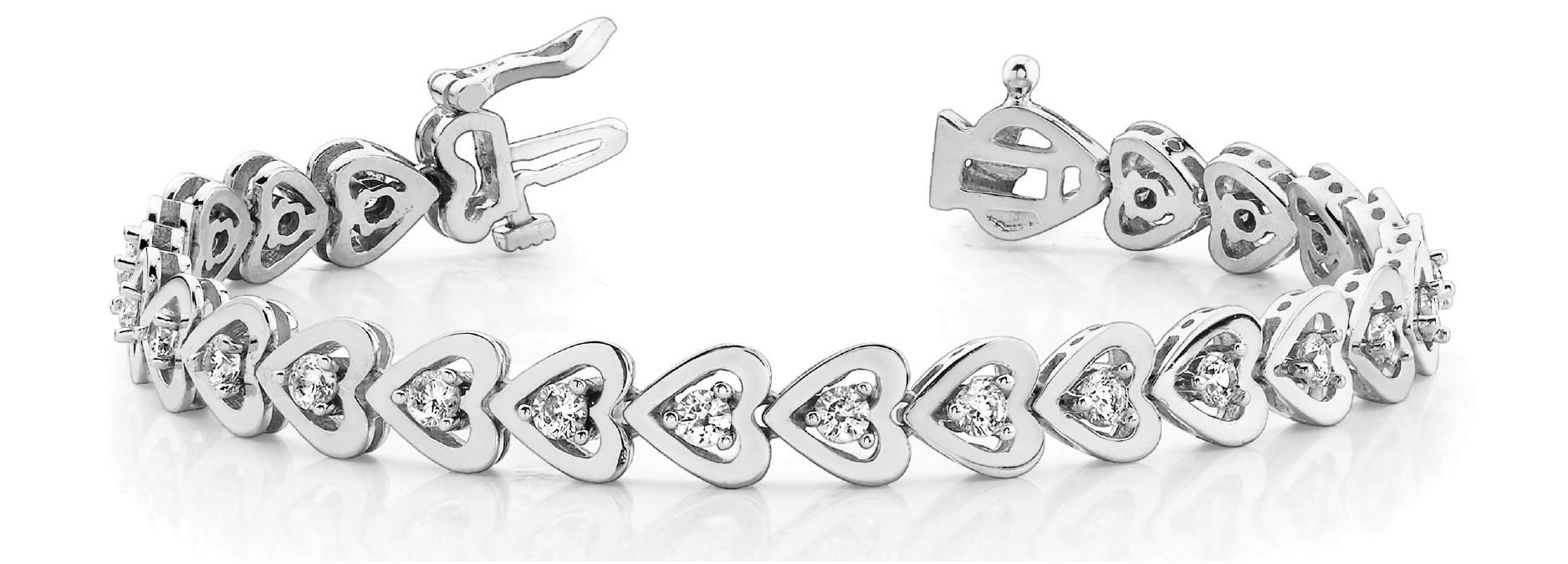 Bracelet In Line Heart