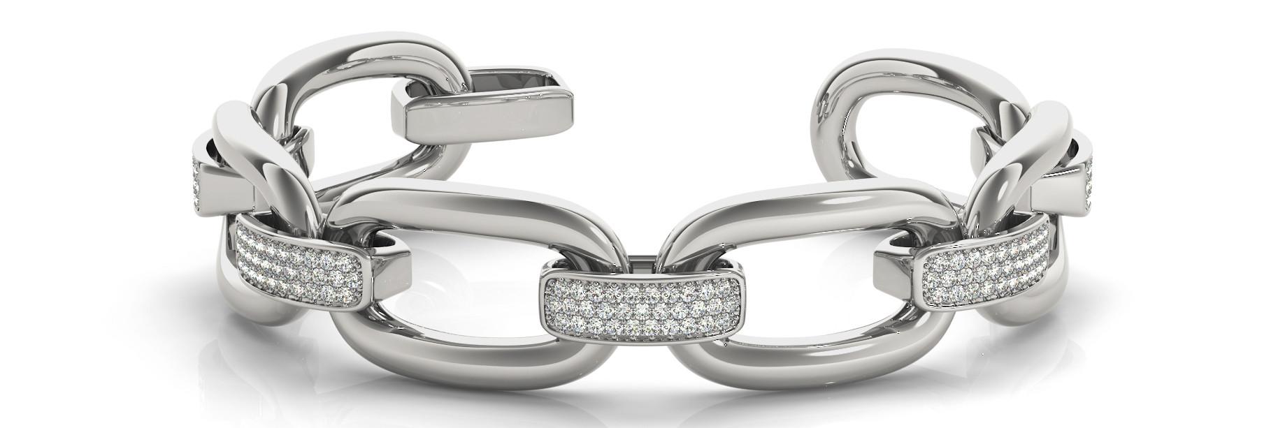 Bracelet Italian Made Length - 8 InchWidth - .70 Inch