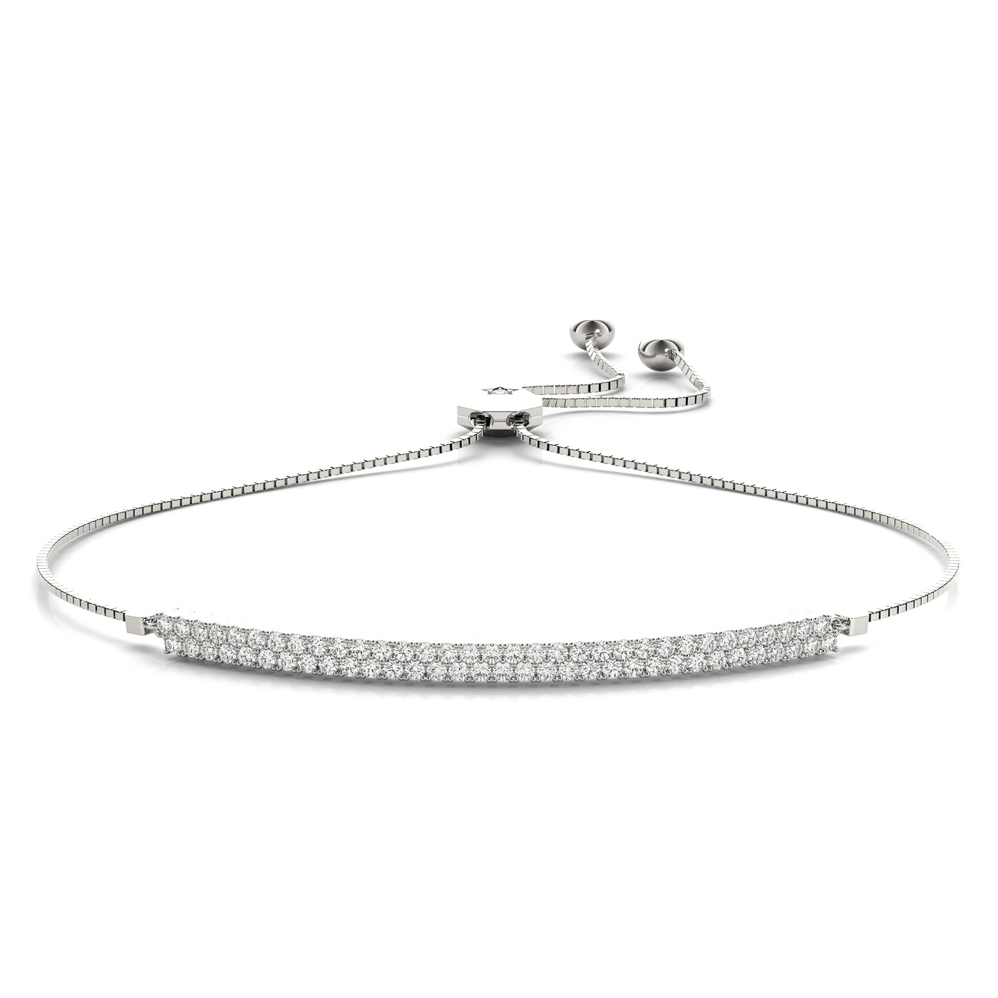 2 ROW ADJUSTABLE BRACELET