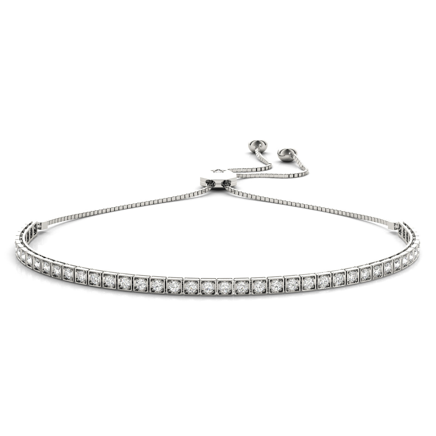 ADJUSTABLE TENNIS BRACELET