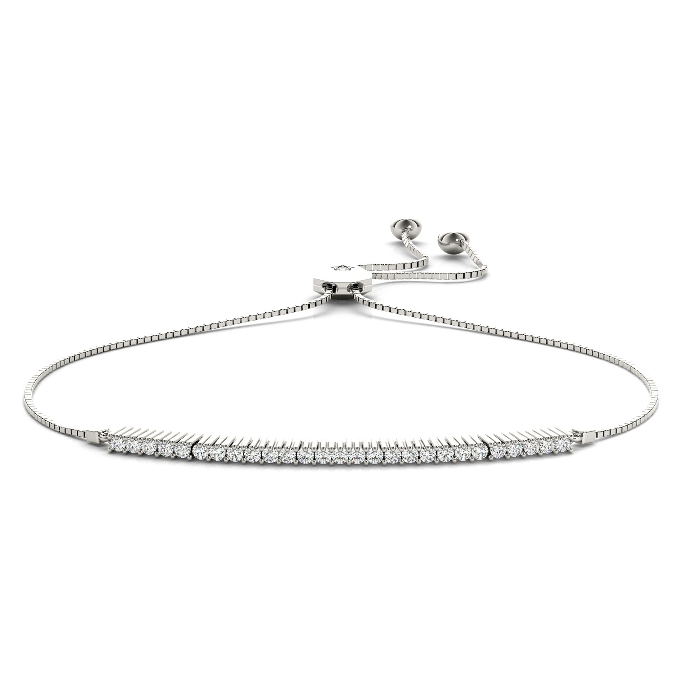 14KW DIAMOND ADJUSTABLE BRACELET