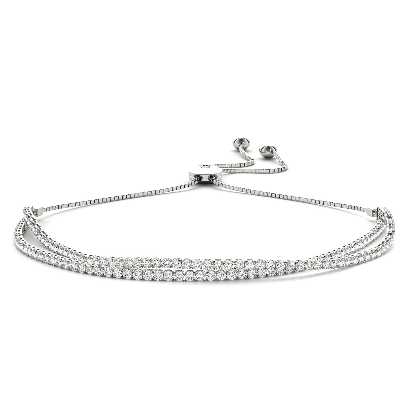 IN LINE ADJUSTABLE TENNIS BRACELET