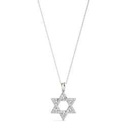 9MM STAR OF DAVID DIAMOND PENDANT