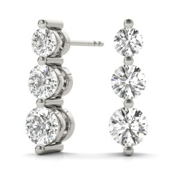 EARRINGS 3 STONE MATCH 30760