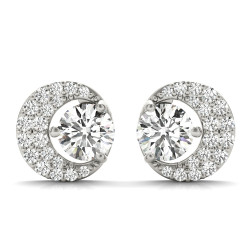FASHION EARRINGS ROUND CENTER