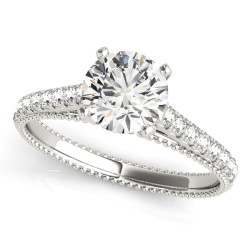 ENGAGEMENT RINGS SINGLE ROW PRONG SET