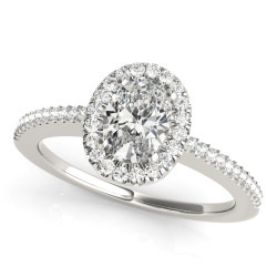 ENGAGEMENT RINGS HALO OVAL