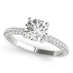 PAVE ENGAGEMENT RING WITH RD HEAD