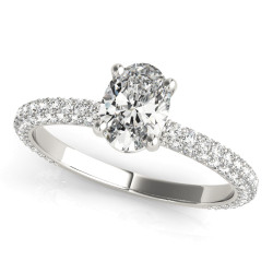 PAVE ENGAGEMENT RING W/ OV CENTER