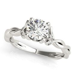 ENGAGEMENT RING WITH TWISTED SHANK