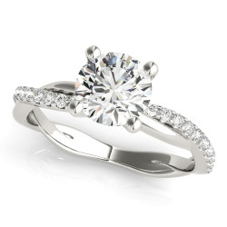 TWISTED DIA SHANK ENGAGEMENT RING