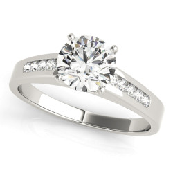 ENGAGEMENT RINGS SINGLE ROW CHANNEL SET