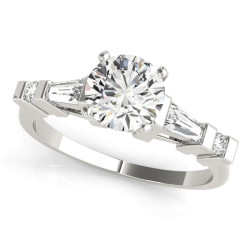 ENGAGEMENT RINGS FANCY SHAPE BAGUETTE REMOUNTS