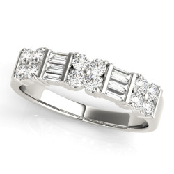 WEDDING BANDS FANCY SHAPE BAGUETTE