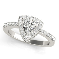 ENGAGEMENT RINGS HALO PEAR & TRILLION
