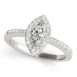 ENGAGEMENT RINGS HALO MARQUISE