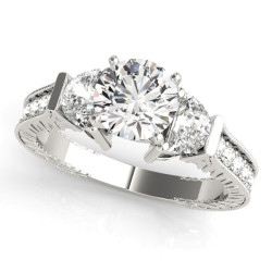 ENGAGEMENT RINGS FANCY SHAPE ANY SHAPE REMOUNTS