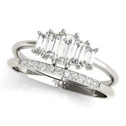 FASHION RING RD & STRAIGHT BAGUETTE