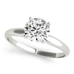 4 prong Round Solitaire