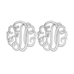 20MM MONOGRAM POST & CLUTCH EARRING