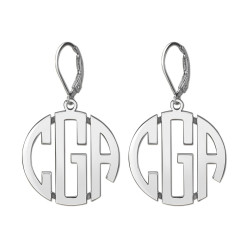 25MM LEVER BACK MONOGRAM EARRING