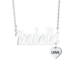 NAMEPLATE W/ LOVE CHARM DANGLE