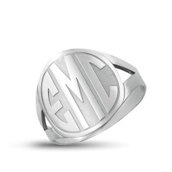 BLOCK LETTER MONOGRAM RING