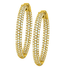 36MM ROUND PAVE INSIDE OUT