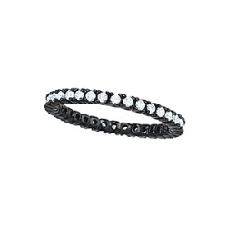 1 ROW ETERNITY  BLK. RHODIUM