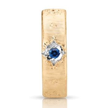 18K WHITE BLUE SAPPHIRE RING;BLUE SAPPHIRE=1/20 CTTW