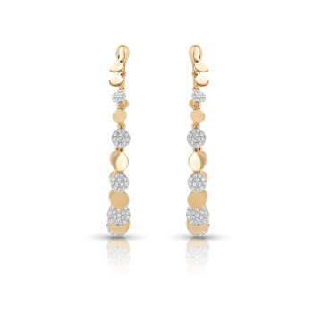 14KT YELLOW DIA EARRINGS