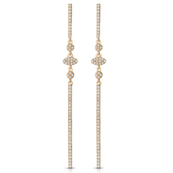 14K DIA EARRINGS