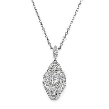14KW DIAMOND NECKLACE;DIAMOND=1/5 CTTW